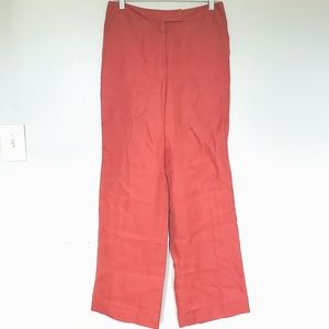 NWT Talbots silk linen dress work pants trousers